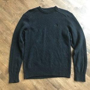 The North Face Black Crewneck ribbed sweater wool